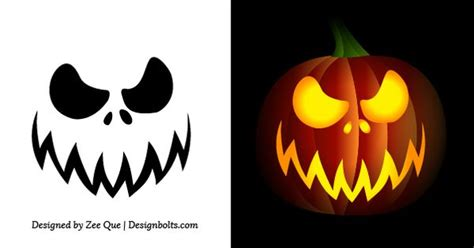 simple pumpkin faces free simple easy pumpkin carving stencils patterns for