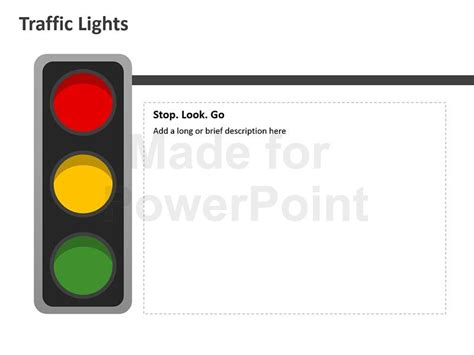 stop light template traffic lights editable powerpoint template