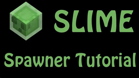 Slime Trap Tutorial | minecraft slime spawner spawn room trap tutorial guide