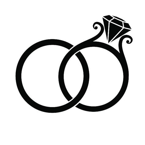 Wedding Rings Clip Art, Vector Images & Illustrations   iStock