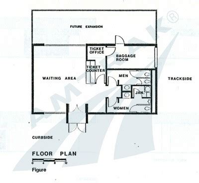 area of a floor plan the amtrak standard stations program amtrak history of