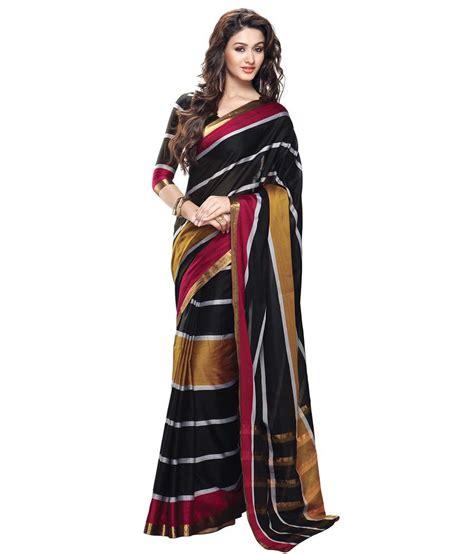 Aishaa Instant Black aisha black cotton silk saree buy aisha black cotton