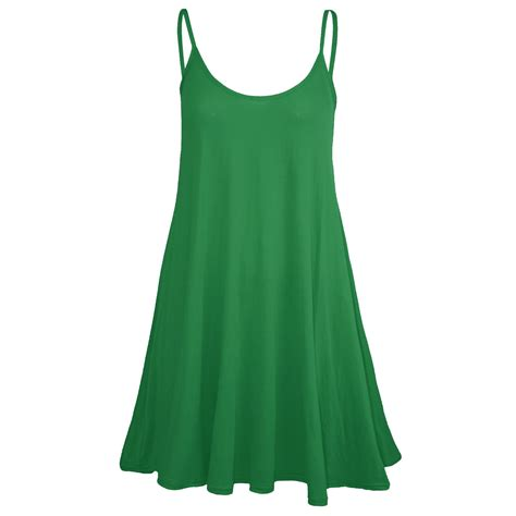 ladies swing dresses womens ladies sleeveless plain strappy camisole flared