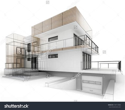 architectural drawing of a house autocad vector 93734254