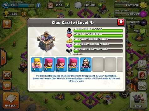 protect war loot in your clan castle clash of clans clash of clans clan wars war loot in clan castle
