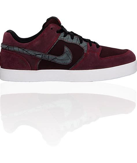nike 6 0 melee burgundy black shoes at zumiez pdp