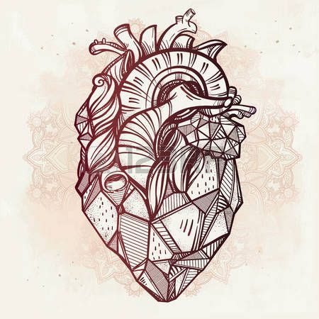 best 25+ geometric heart tattoo ideas on pinterest | heart