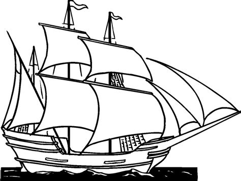 boat drawing clipart clipper ship clip art cliparts co printables