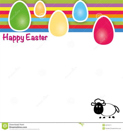 happy easter card template happy easter template of greeting card with eggs stock