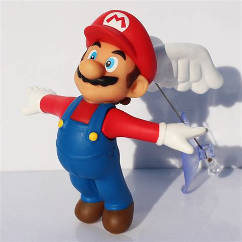 Mario Figure Isi 6 Fig 0630 4 7 12cm mario bros flying mario pvc figure toys with wings model doll for children in