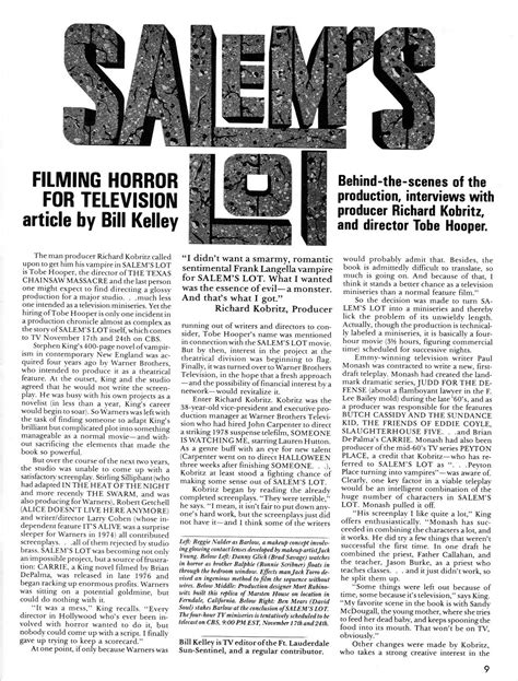 Salem's Lot: Filming Horror for Television