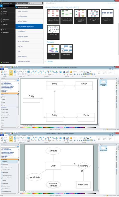 erd software entity relationship diagram software professional erd
