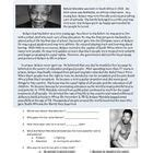 nelson mandela biography reading comprehension 1000 images about black history month on pinterest