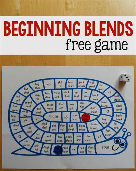 printable board games first grade beginning blends game free printable