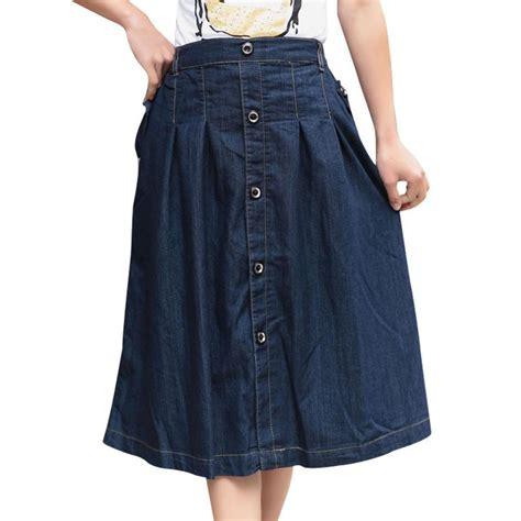 a line fashion denim skirts plus size m 3xl