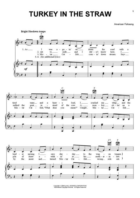 free printable sheet music turkey in the straw turkey in the straw piano sheet music onlinepianist