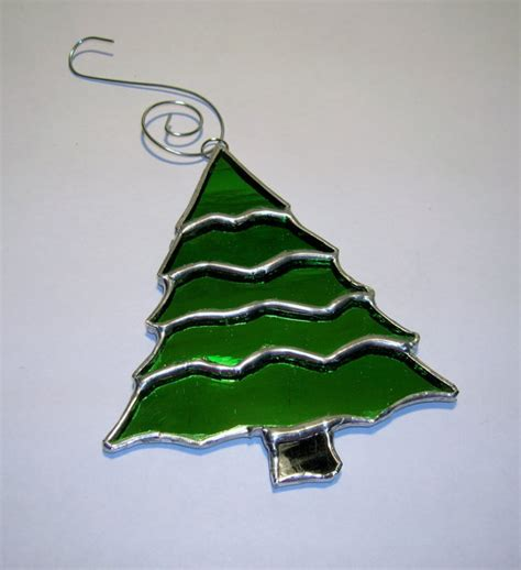 stained glass christmas tree ornament by ibgcreativedesign