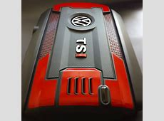 VW - TSI engine cover badgskin set Red Honda Emblem