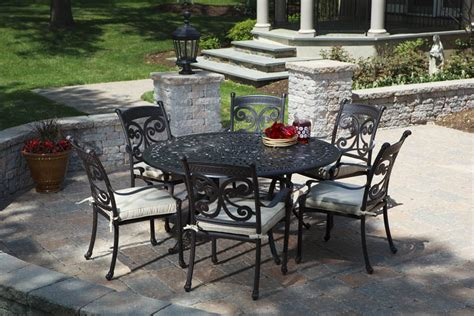 wrought iron patio furniture with green color the wooden