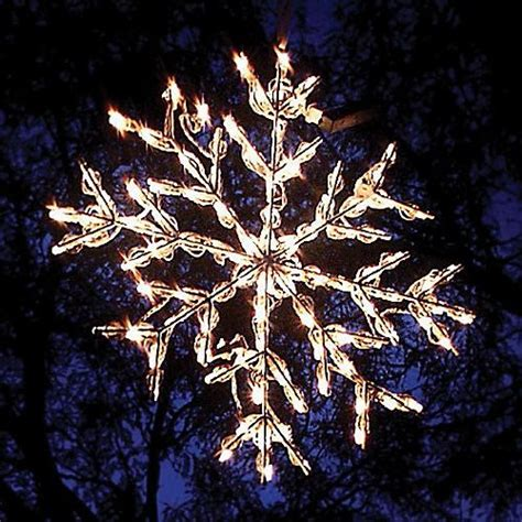 lighted snowflake christmas lights traditional