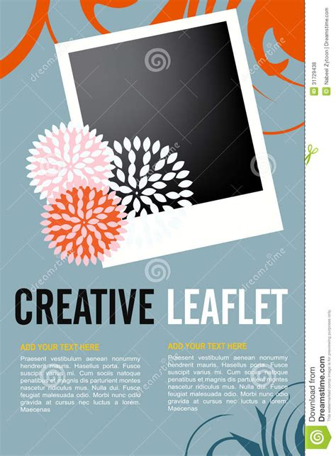 Leaflet Design Stock Vector Image Of Background Frame