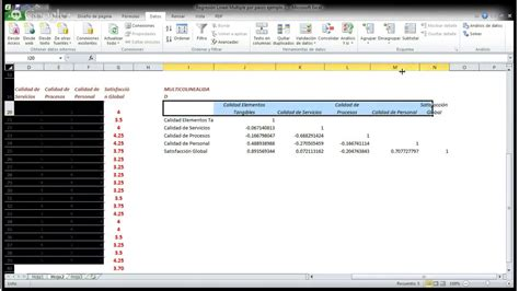 tutorial excel regresion lineal regresi 243 n lineal multiple por pasos usando excel funnydog tv