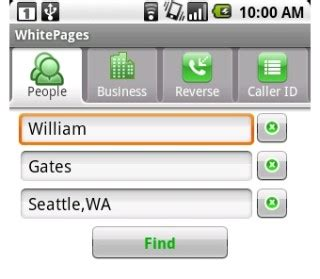White Pages Lookup Att Whitepages Adds Phone Number Search To Android App