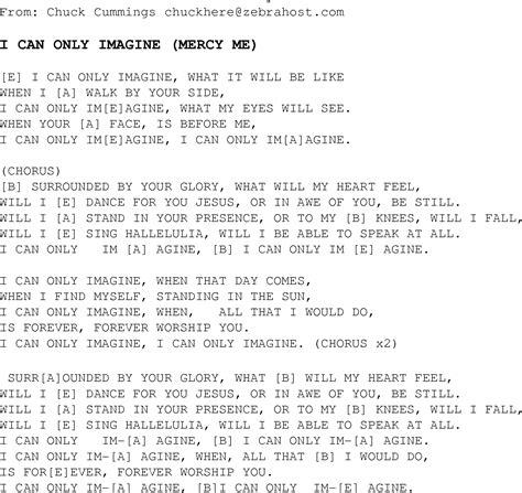 printable lyrics imagine i can only imagine christian gospel song lyrics and chords