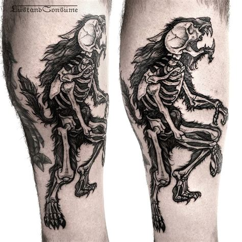 x tattoo ideas werewolf x ray tattoo best tattoo ideas gallery