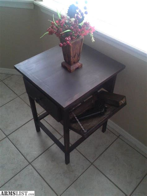 gun end table armslist for sale end table with concealed gun compartment