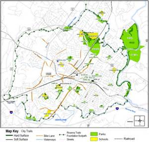 Charlottesville Virginia Map by Charlottesville Va Parks And Trails Charlottesville