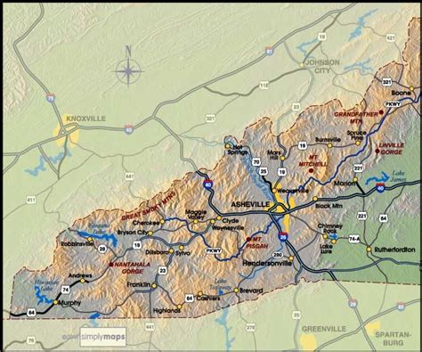 map of western carolina wydeven designs a trip to asheville nc