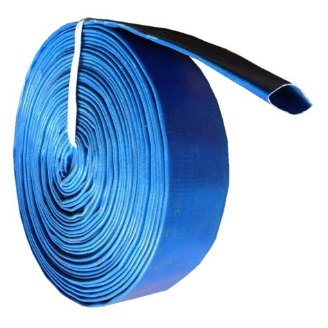 Water Hose Matsumoto 2 Inch 3 Bar 100 Mtr 1 2 layflat pvc water delivery hose discharge pipe lay flat irrigation blue