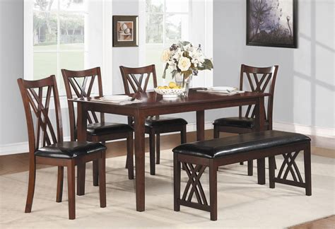 dining room table with bench and chairs 26 dining room sets big and small with bench seating 2018