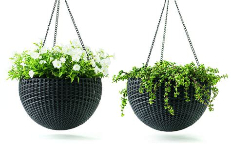 Buy Hanging Planters by Best Outdoor Planters For 2017 Garden Club