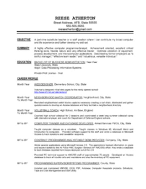 Free Resume Sles Career Change Free Resume Sles By Professional Resume Writer In Minnesota Executive And Professional