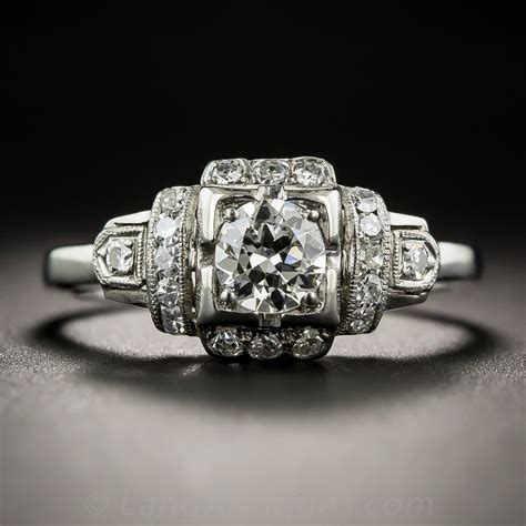 44 carat late deco engagement ring vintage