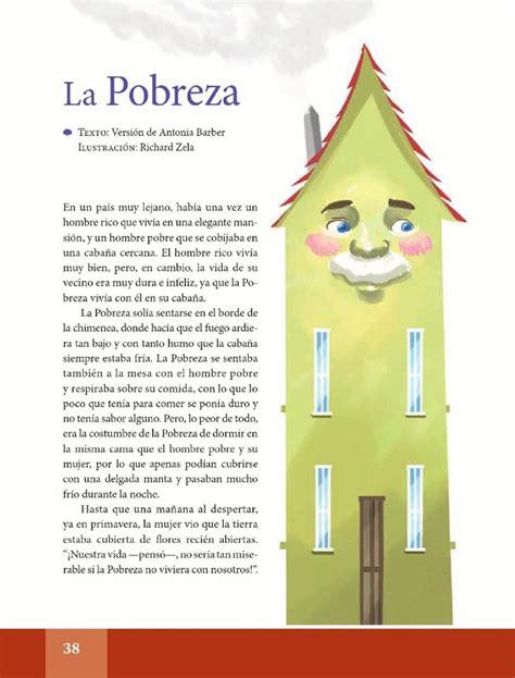 libro de lecturas de 6to grado la pobreza espa 241 ol lecturas sexto grado apoyo primaria