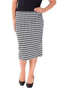 new womens plus size dogtooth pencil skirt bodycon