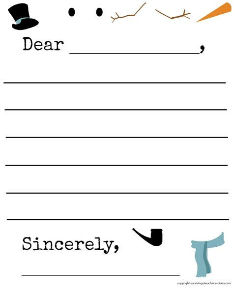 free printable snowman writing template search results for snowman writing template free