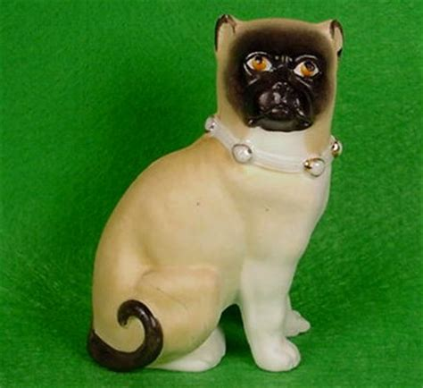 pug faced cat time dances by pug figurines eb002