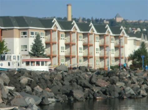 comfort inn duluth canal park view of comfort suites from pier