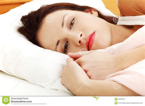 Lying In Bed by Worried Lying In Bed Stock Image Image 22236011