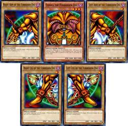 banned yugioh decks exodia the forbidden one 5 card set legendary decks