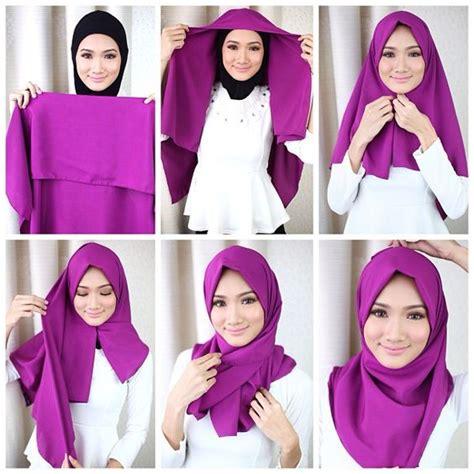tutorial hijab segi empat lengkap lesjalouses