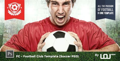 Fc Football Club Template Soccer Psd By Directorythemes Themeforest Football Template Psd
