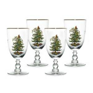 buy spode 174 christmas tree wine glasses set of 4 from bed