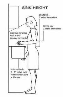 what is the height of a bathroom sink 7 best ergonomics for the home images on pinterest