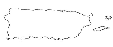 coloring page map of puerto rico blank map of puerto rico map