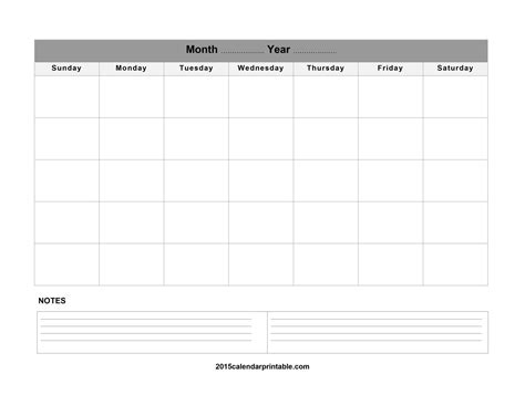 printable monthly calendar template blank monthly calendar 2017 printable calendar